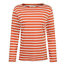 Buy Seasalt Sailor Jersey Top, Breton Rust Ecru Online at johnlewis.com