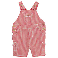 Buy John Lewis Baby Striped Bibshorts, Red Online at johnlewis.com