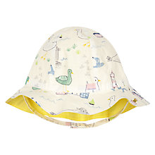Buy John Lewis Baby Seaside Hat, Off-White/Multi Online at johnlewis.com