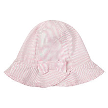 Buy John Lewis Baby Striped Seersucker Hat, Pink Online at johnlewis.com
