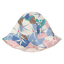 Buy John Lewis Baby Floral Stripe Hat, Multi Online at johnlewis.com