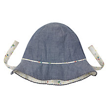 Buy John Lewis Baby Chambray Ditsy Hat, Blue Online at johnlewis.com