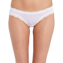 Buy cheekfrills Heart Print Brief, Lilac Online at johnlewis.com