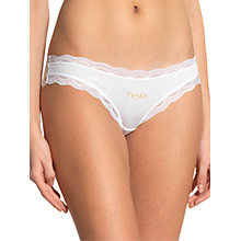 Buy Cheekfrills Party Brief, White/Gold Online at johnlewis.com