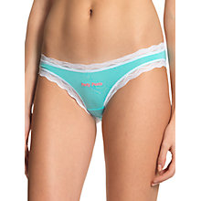 Buy cheekfrills Party Brief, Turquoise/White Online at johnlewis.com