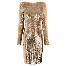 Buy Oasis Sequin Bodycon Dress, Gold Online at johnlewis.com
