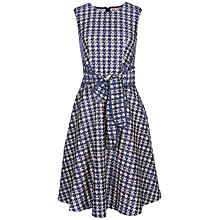 Buy Yanny London Houndstooth Lace Dress, Blue Online at johnlewis.com