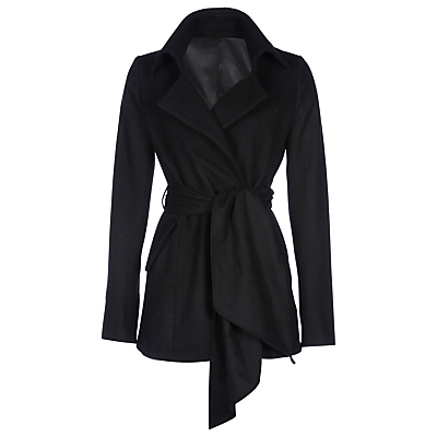 Yanny London Cashmere Belted Coat, Black