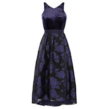 Buy Coast Audrena Velvet Dress, Navy Online at johnlewis.com