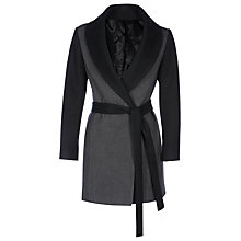 Buy Yanny London Wool Contrast Sleeve Coat, Grey Online at johnlewis.com