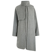 Buy Warehouse Scarf Cape Coat, Light Grey Online at johnlewis.com