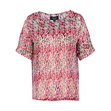 Buy Yanny London Printed Georgette T-Shirt, Multi Online at johnlewis.com