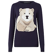Buy Sugarhill Boutique Nita Winter Bear Jumper, Navy Online at johnlewis.com