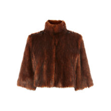 Buy Coast Sadah Faux Fur Cover Up, Tan Online at johnlewis.com