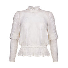 Buy Ghost Rosanne Georgette Blouse, Winter White Online at johnlewis.com