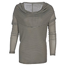 Buy Yanny London Cowl Neck Top, Black/White Online at johnlewis.com