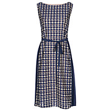 Buy Yanny London Houndstooth Lace Georgette Dress, Blue Online at johnlewis.com