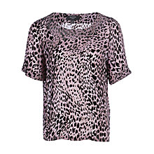 Buy Yanny London Leopard Print Velvet Devore Top, Lilac Online at johnlewis.com