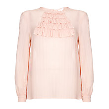 Buy Ghost Vicky Georgette Blouse, Light Apricot Online at johnlewis.com