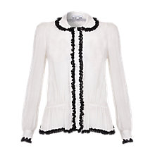 Buy Ghost Lila Georgette Blouse, Winter White Online at johnlewis.com