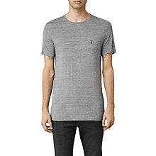 Buy AllSaints Meter Tonic Slim-Fit Crew Neck T-Shirt, Charcoal Mouline Online at johnlewis.com