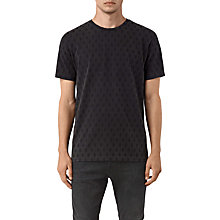 Buy AllSaints Quill Crew Neck T-Shirt, Vintage Black Online at johnlewis.com