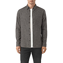 Buy AllSaints Girard Floral Print Slim Fit Shirt, Washed Black Online at johnlewis.com