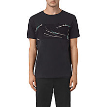 Buy AllSaints Moreland Twelve Abstract Graphic T-Shirt, Black Online at johnlewis.com