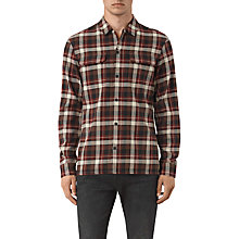Buy AllSaints Dayton Check Slim Fit Shirt, Red Online at johnlewis.com