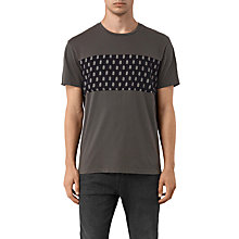 Buy AllSaints Quill Twelve Crew Neck T-Shirt, Slate Grey Online at johnlewis.com