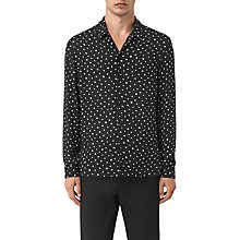 Buy AllSaints Yuma Mini Print Slim Fit Shirt, Black Online at johnlewis.com