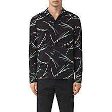 Buy AllSaints Moreland Slim-Fit Abstract Graphic Shirt, Black Base Online at johnlewis.com
