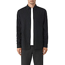 Buy AllSaints Coteau Mini Motif Slim Fit Shirt, Black Online at johnlewis.com