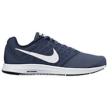 Buy Nike Downshifter 7 Men's Running Shoes, Midnight Navy/White Online at johnlewis.com