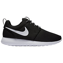 Buy Nike Roshe One Women's Trainers, Black Online at johnlewis.com