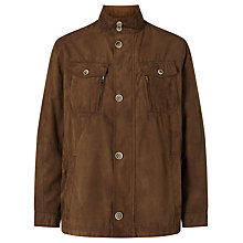 Buy Bugatti Microma Velour Water Repellent Two Pocket Jacket, Tobacco Online at johnlewis.com
