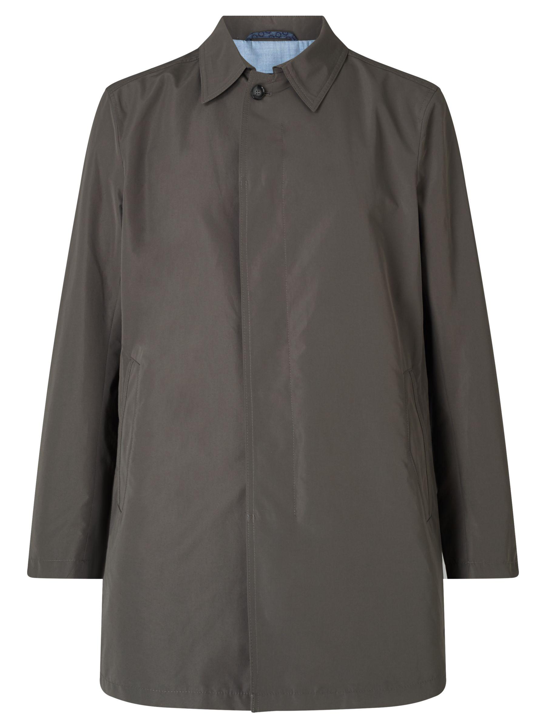 Bugatti Bugatti 84cm Slim Shirt Collar Mac, Khaki