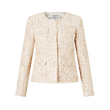 Buy Helene For Denim Wardrobe Belle Tweed Jacket, Cream Online at johnlewis.com
