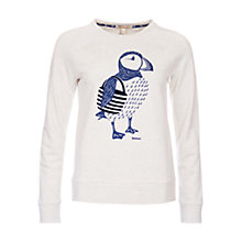 Buy Barbour Zoris Puffin Print Sweatshirt, Cloud Marl Online at johnlewis.com