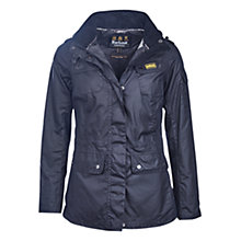 Buy Barbour International Switch Waxed Parka, Navy Online at johnlewis.com