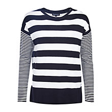 Buy Barbour International Rivco Stripe Jumper, Black/Cream Online at johnlewis.com
