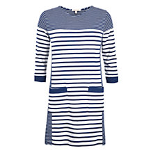 Buy Barbour Rief Stripe Dress, Navy/Cloud Online at johnlewis.com