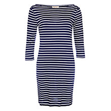 Buy Barbour Wharf Stripe Jersey Dress, Navy/Cloud Online at johnlewis.com