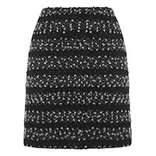 Buy Oasis Popcorn Mini Skirt, Black Online at johnlewis.com