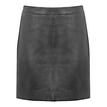 Buy Oasis Faux Leather Mini Skirt, Black Online at johnlewis.com