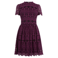 Buy Oasis Deco Lace Skater Dress Online at johnlewis.com