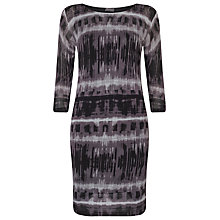 Buy Phase Eight Juliette Print Tunic Dress, Black/Grey Online at johnlewis.com