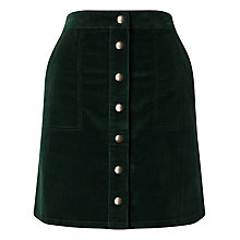 Buy Phase Eight Leia Cord Skirt, Forest Online at johnlewis.com