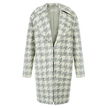 Buy Hobbs Leonora Check Coat, Grey/Ivory Online at johnlewis.com