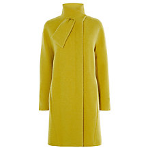 Buy Karen Millen Tie Neck Coat, Lime Online at johnlewis.com